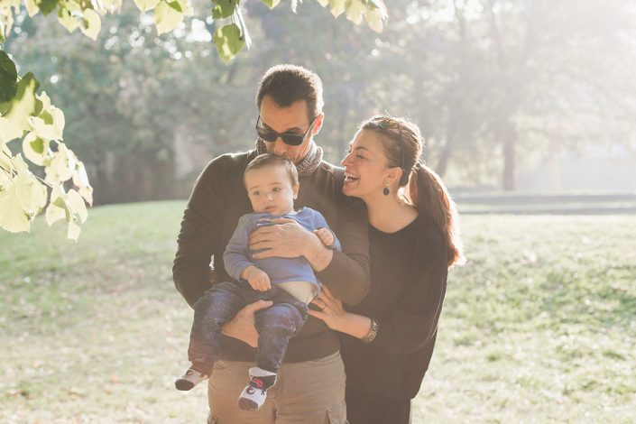 Francesca, Ivan and Edoardo | Outdoor family session in Milan