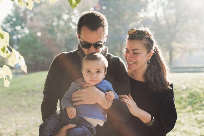 Outdoor family photo session in Milan